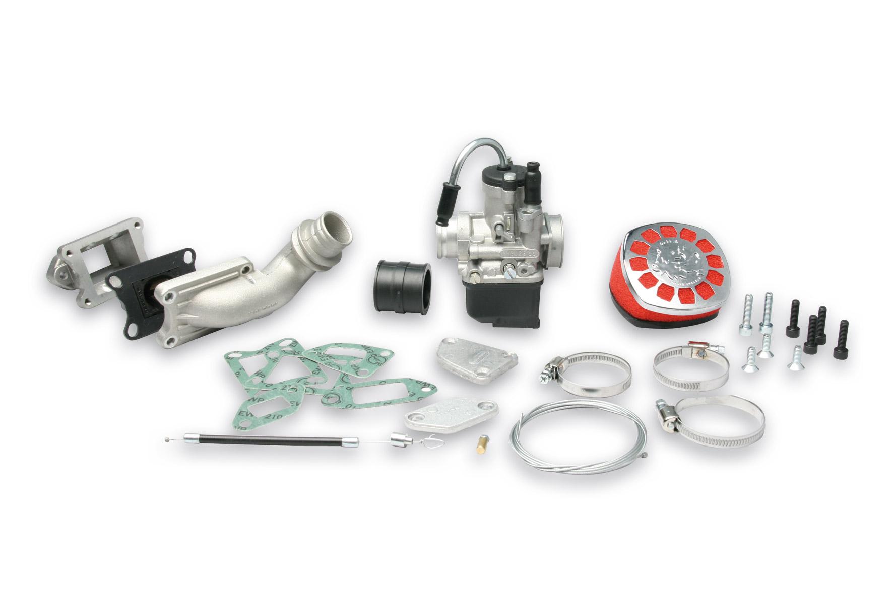 Impianto alimentazione PHBL 25 B lamellare al cilindro 1a serie per Vespa ET3 Primavera 2T 125 cc
