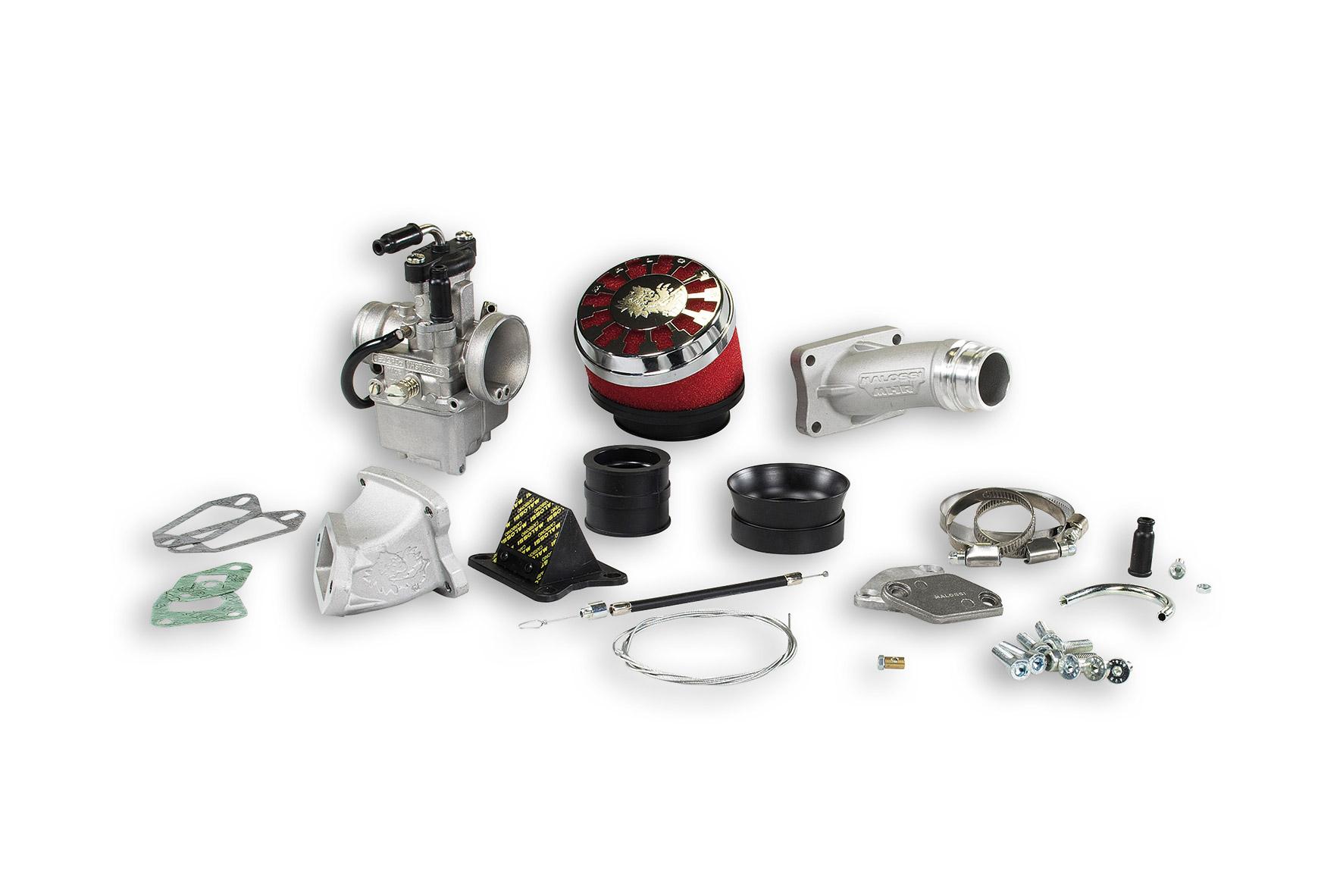 Impianto alimentazione MHR VHST 28 lamellare al cilindro per Vespa ET3 Primavera 125
