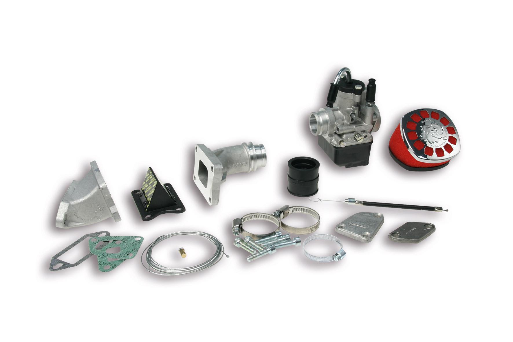 Impianto alimentazione MHR PHBL 25 B lamellare al cilindro per Vespa ET3 Primavera 125