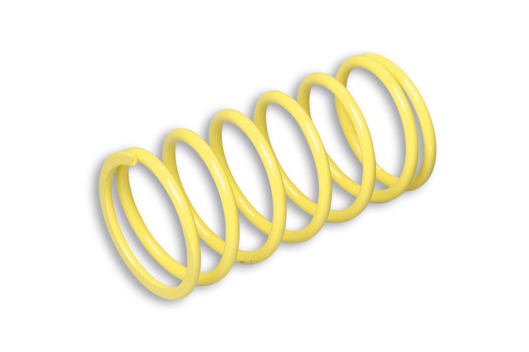 Muelle de polea conducida amarillo (Ø externo 70,5x138 mm - Ø hilo 6 mm - k 9,7)