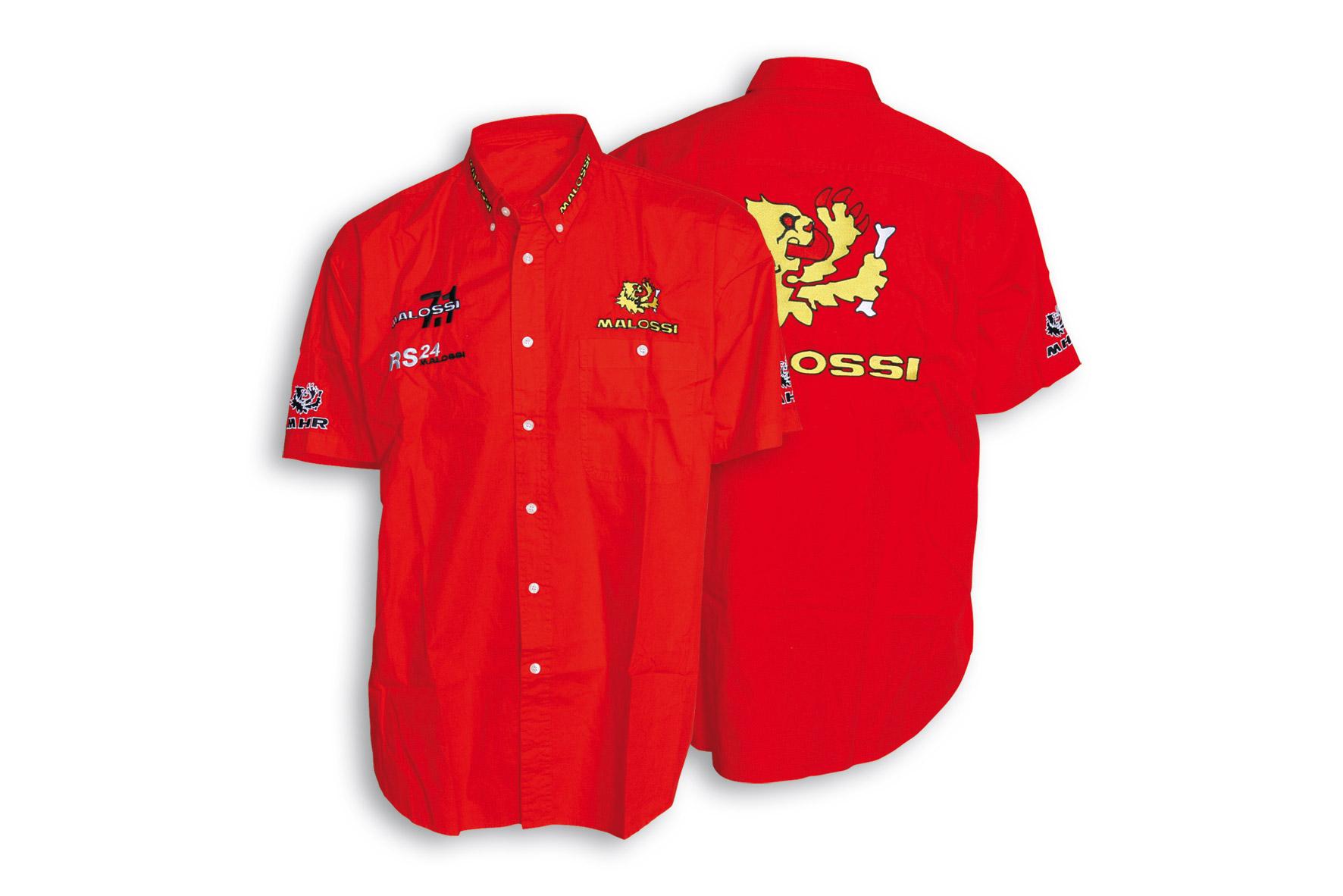Camisa Malossi PADDOCK roja - talla XXL
