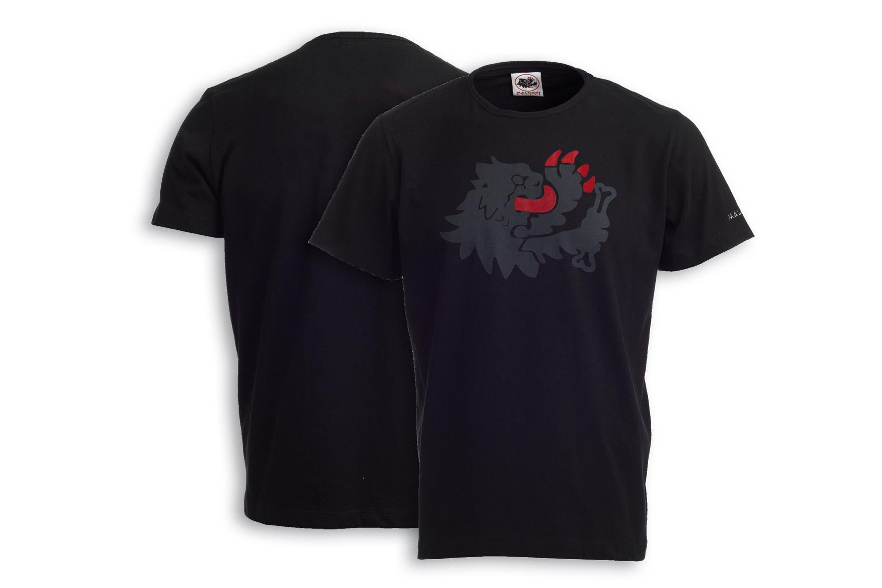 BLACK T-SHIRT MALOSSI griffe - LION ( M )