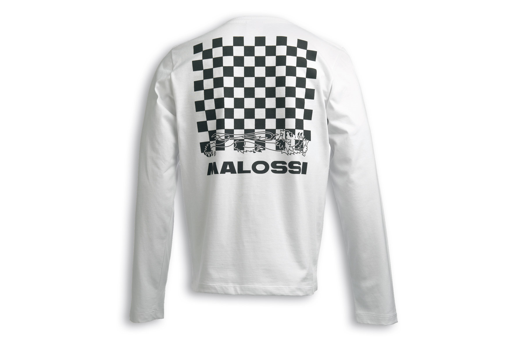 WEISSES T-SHIRT MALOSSI griffe - LOGO ( L )