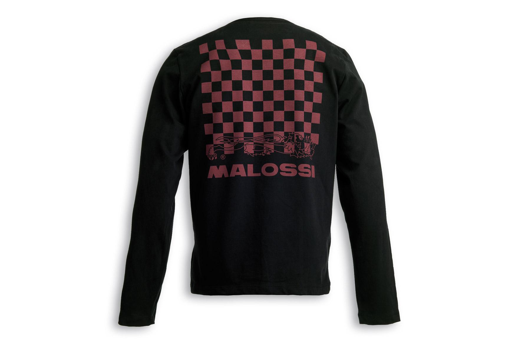 BLACK T-SHIRT MALOSSI griffe - LOGO ( XL )