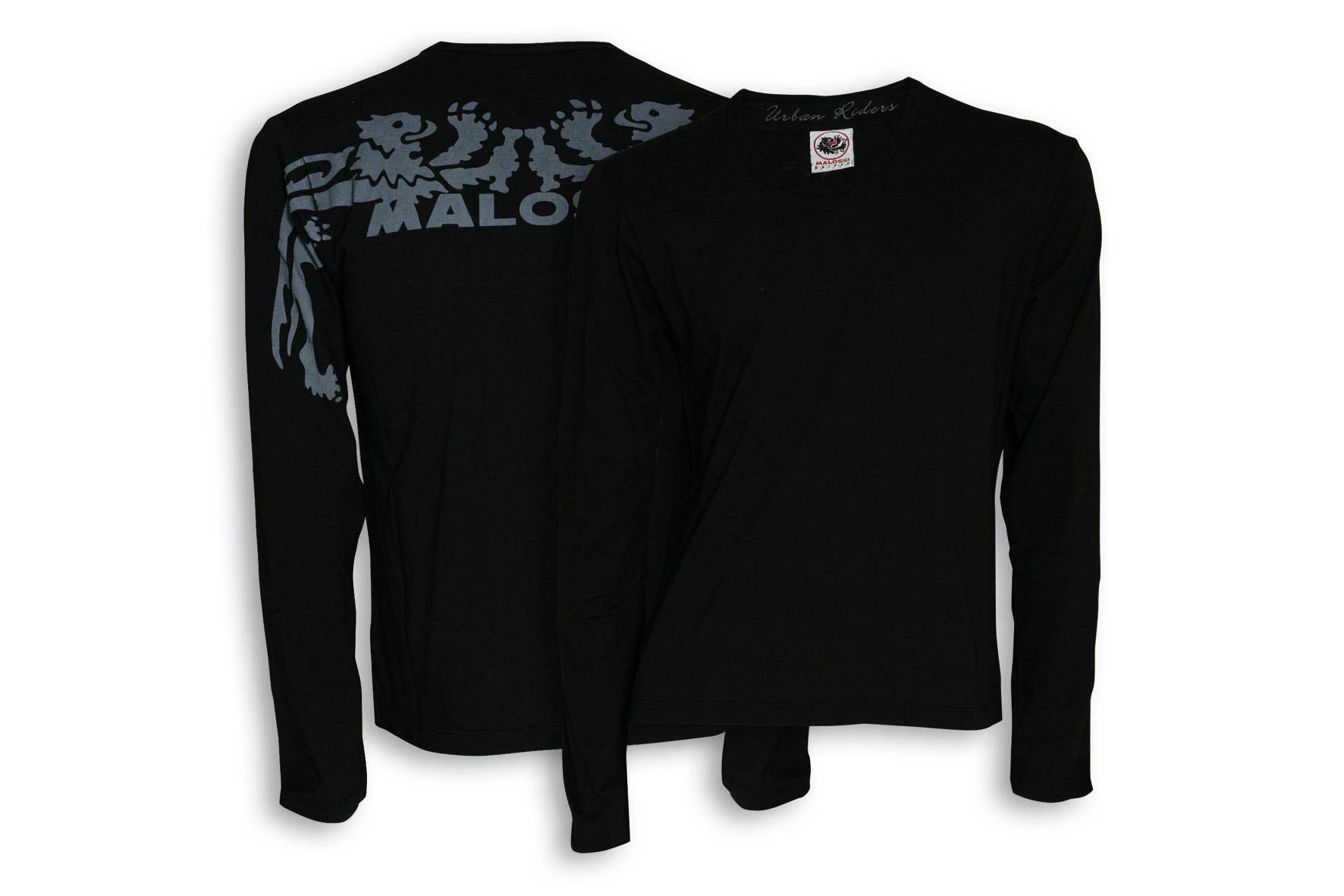 Camiseta Malossi griffe START negra manga larga - talla S