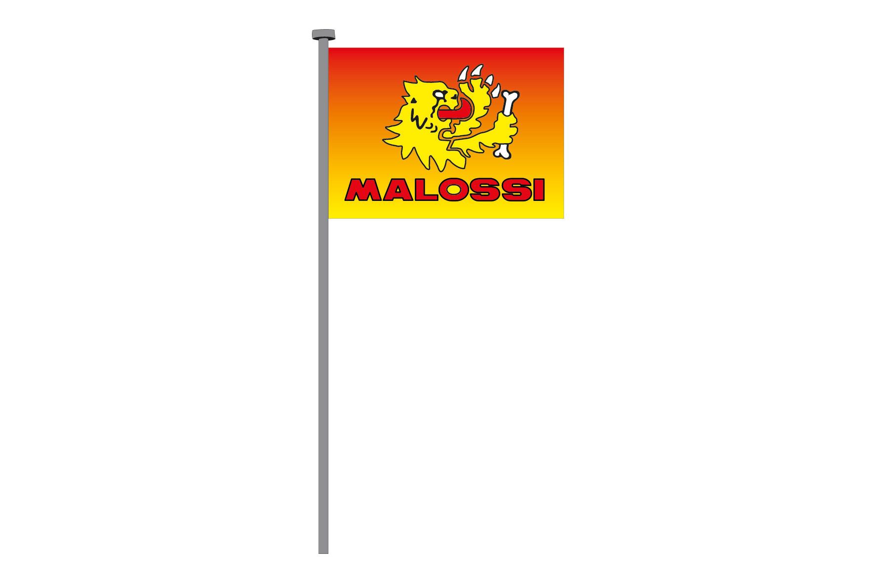 MALOSSI COLOURED FLAG , 98x135 cm.