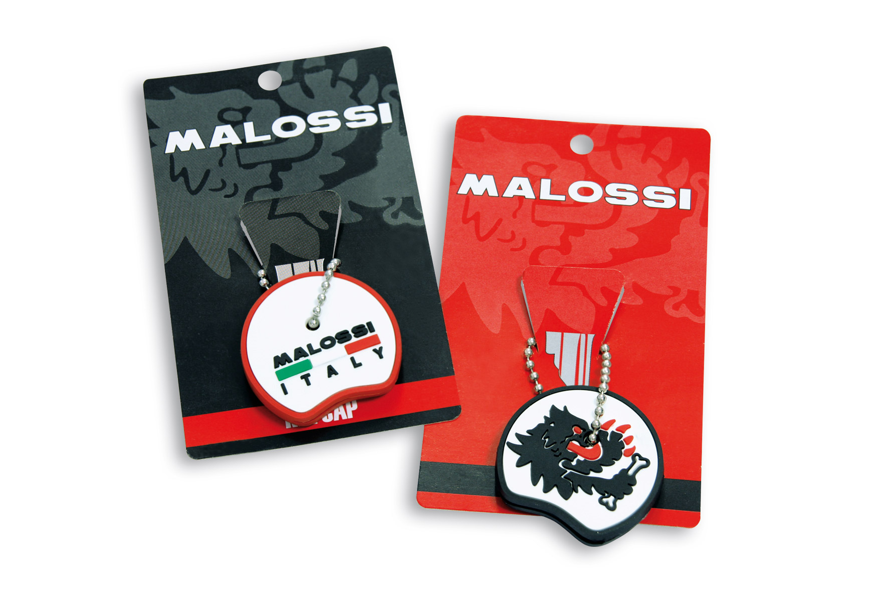 2 KEY COVERS Malossi BLACK / RED