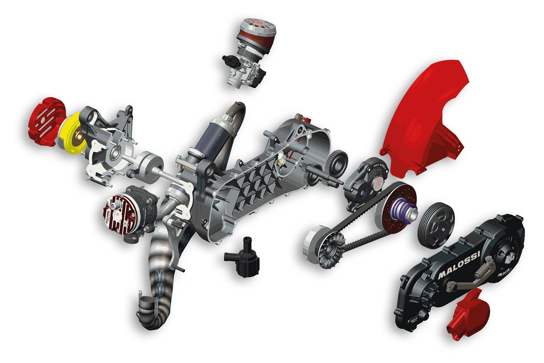 Motor completo RC-ONE 94cc desmontado para motor Yamaha