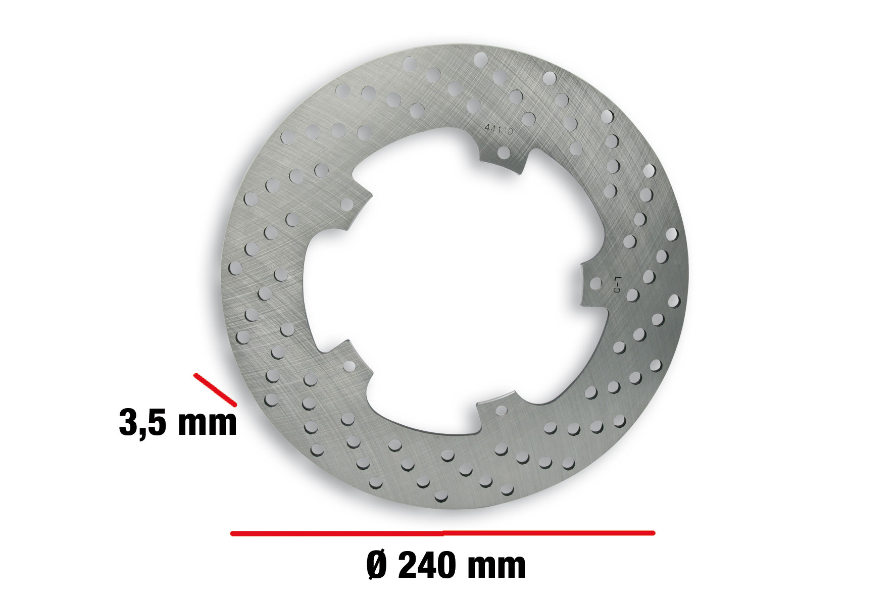 Disco freno BRAKE POWER DISC Ø esterno 240 - spessore 3,5 mm