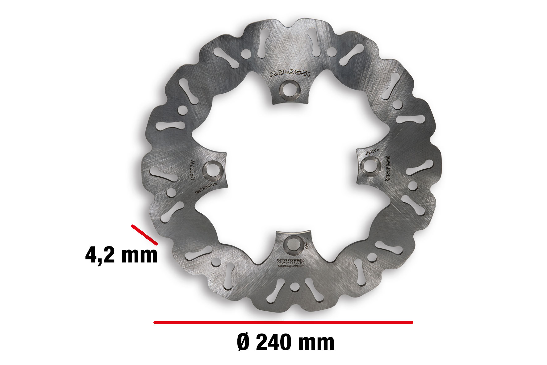 WHOOP DISC brake disc ext. Ø 240 - thickness 4,2 mm